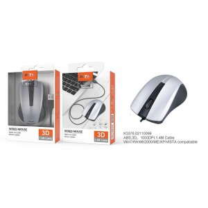 Mouse with Cable 1.4M,...