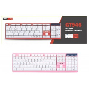 Keyboard with Cable, Red,...