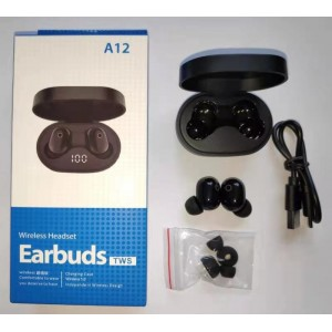 EARBUDS A12-TWS Black...