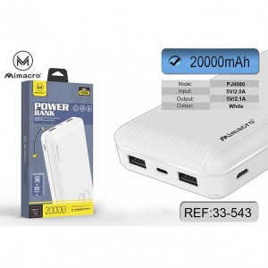 Mimacro Power Bank 20000...