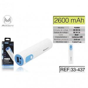 Power Bank de Mimacro 2600...