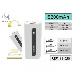 Power Bank de Mimacro 5200...